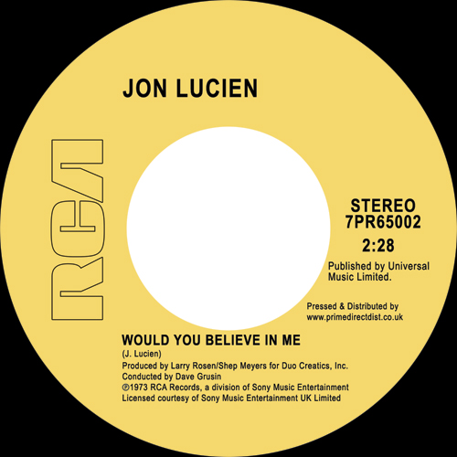 Jon Lucien/WOULD YOU BELIEVE IN ME 7""