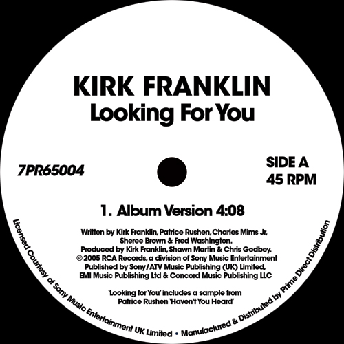"""Kirk Franklin/LOOKING FOR YOU 7"""""""