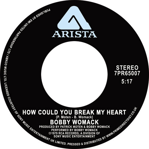 Bobby Womack/HOW COULD YOU BREAK... 7""