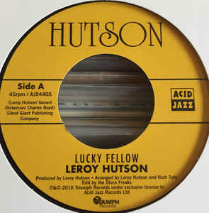 Leroy Hutson/LUCKY FELLOW (EDIT) 7""