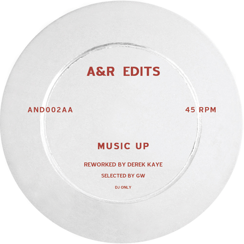 "A&R Edits/VOLUME 2-DEREK KAYE 12"""