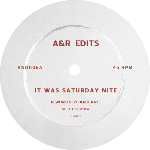"A&R Edits/VOLUME 6-DEREK KAYE 12"""