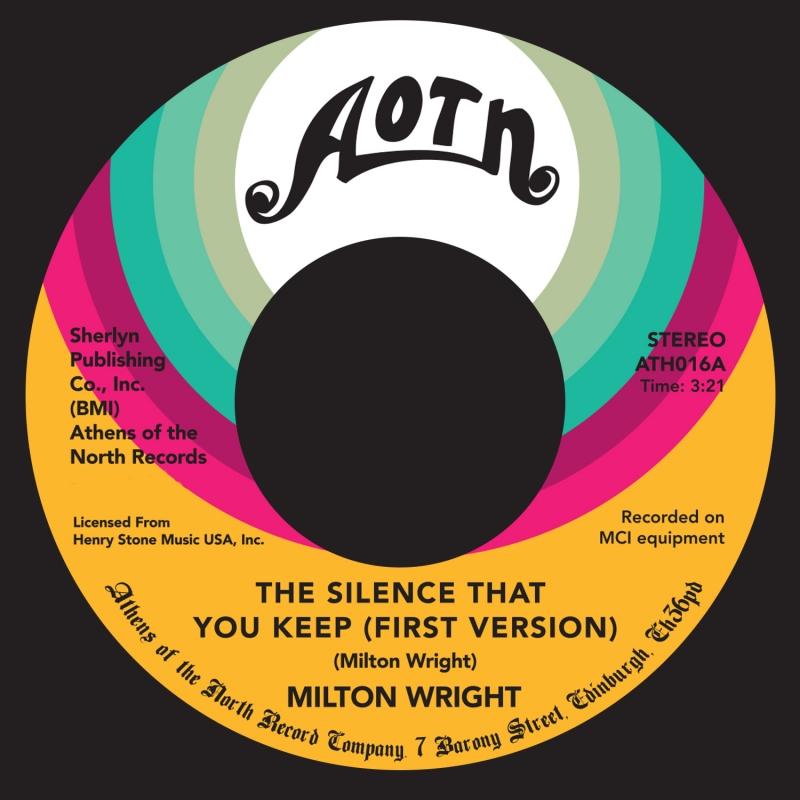 """Milton Wright/SILENCE THAT YOU KEEP 7"""""""
