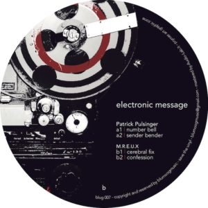 """Patrick Pulsinger/ELECTRONIC MESSAGE 12"""""""