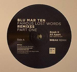 "Blu Mar Ten/FAMOUS LAST WORDS RMX #1 12"""