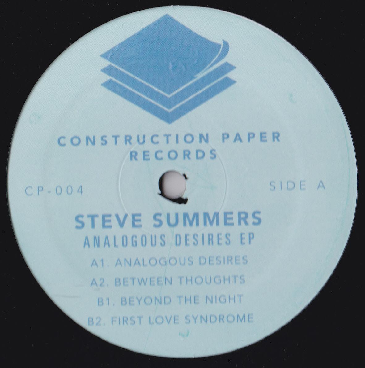 "Steve Summers/ANALAGOUS DESIRES EP 12"""