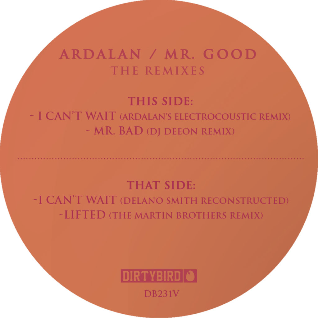 Ardalan/MR. GOOD: THE REMIXES 12""