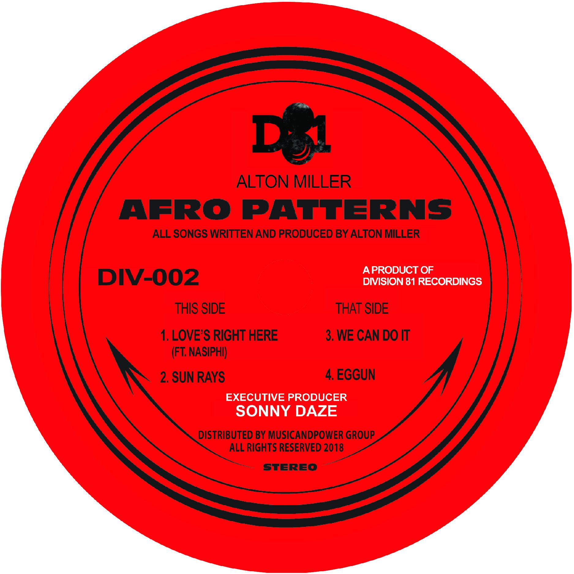 """Alton Miller/AFRO PATTERNS EP 12"""""""
