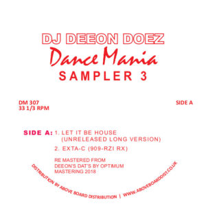 DJ Deeon/DOEZ DANCE MANIA SAMPLER 3 12""
