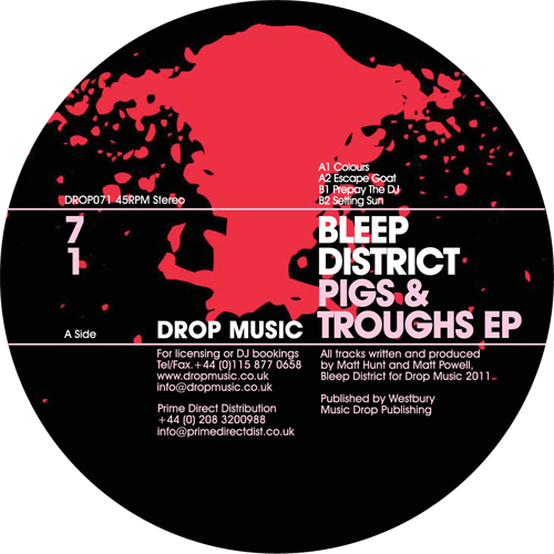 Bleep District/PIGS AND TROUGHS EP 12""