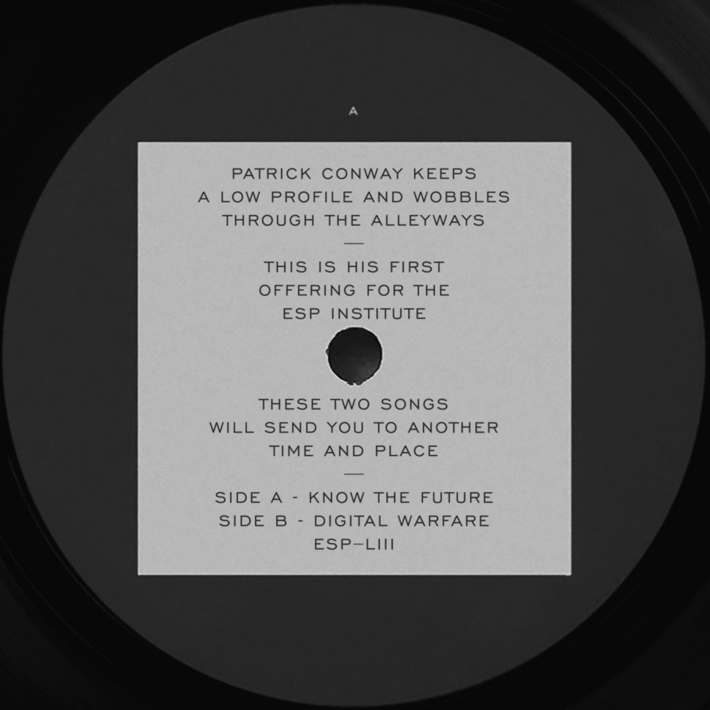 """Patrick Conway/KNOW THE FUTURE 12"""""""