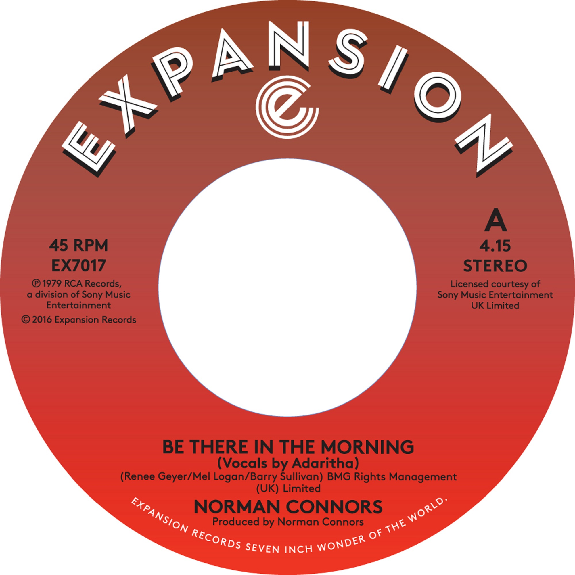 """Norman Connors/BE THERE IN THE MORNIN 7"""""""
