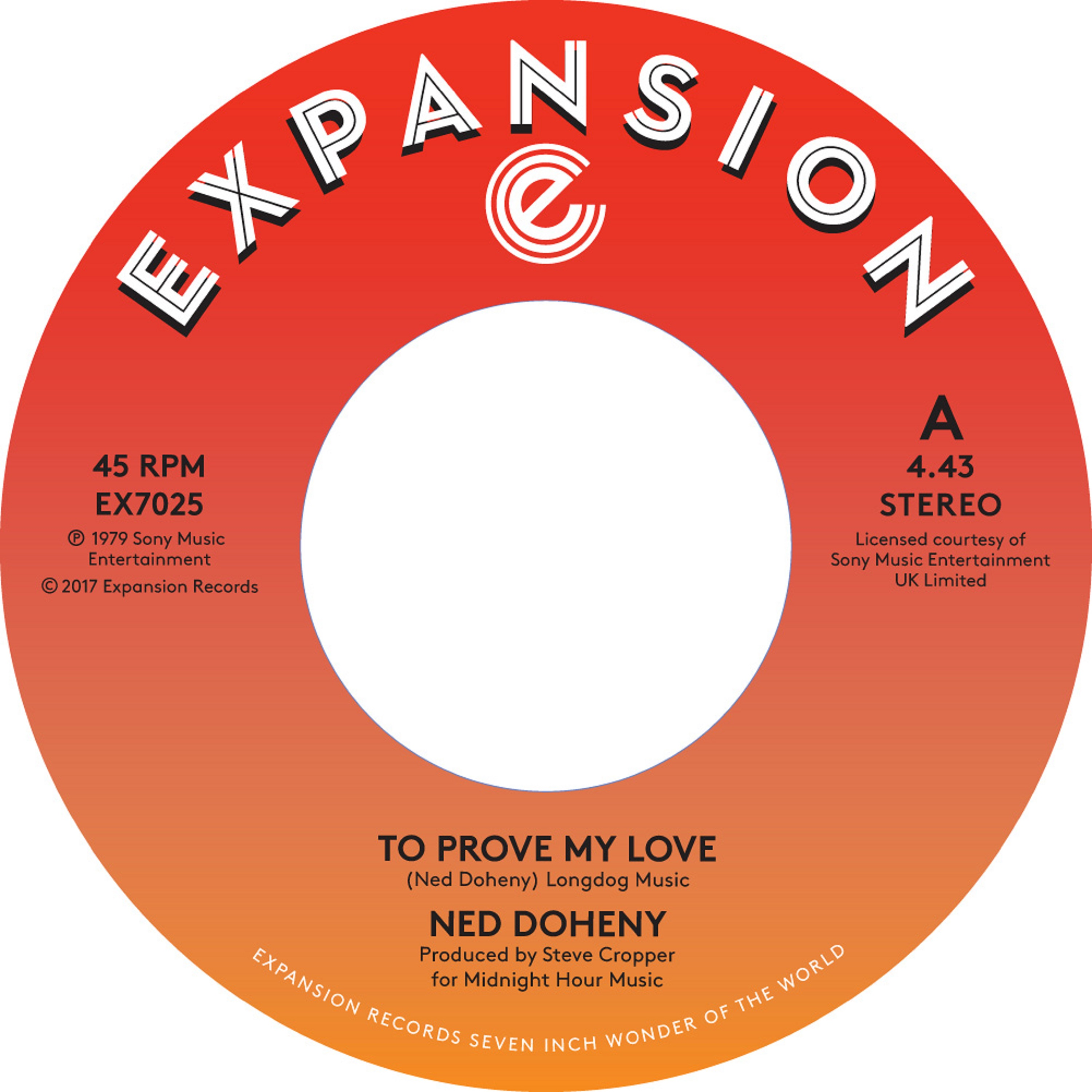 """Ned Doheny/TO PROVE MY LOVE & GUESS 7"""""""