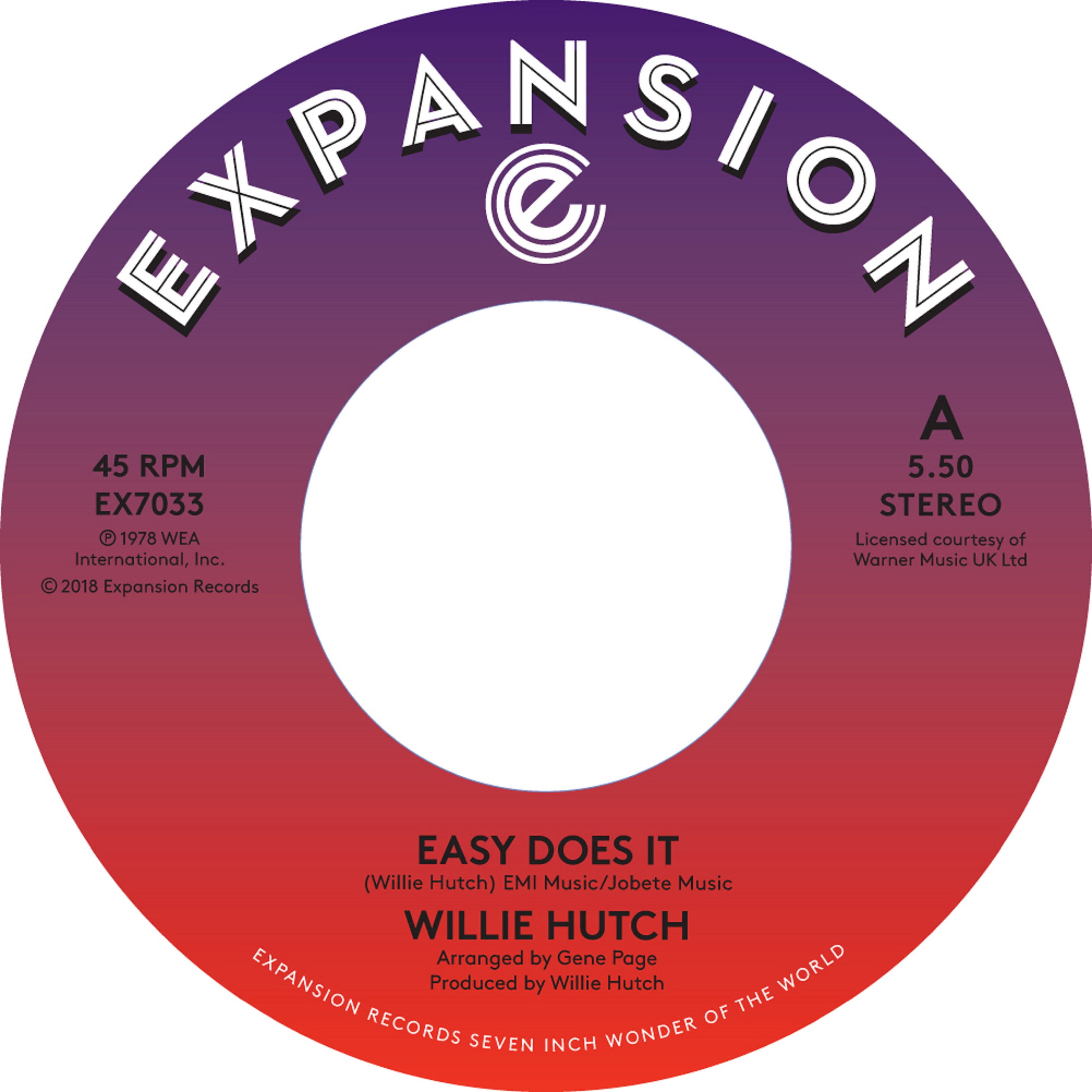 Willie Hutch/EASY DOES IT & KELLY GRN 7""
