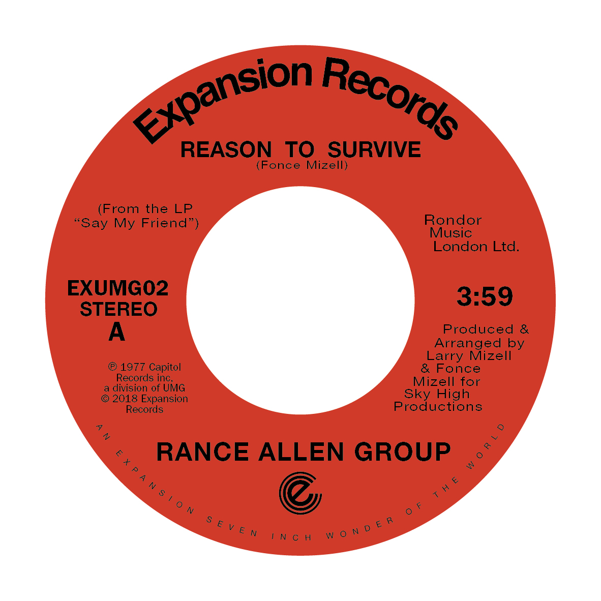 Rance Allen Group/REASON TO SURVIVE 7""