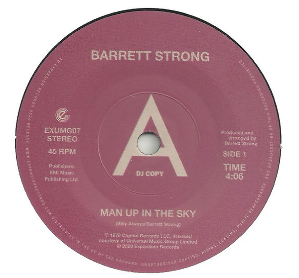 """Barrett Strong/MAN UP IN THE SKY 7"""""""
