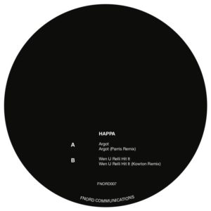 "Happa/ARGOT (PARRIS & KOWTON RMX'S) 12"""
