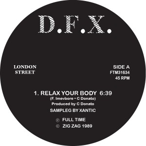 """DFX/RELAX YOUR BODY 12"""""""