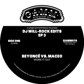 """DJ Will/ROCK EDITS EP 3 12"""""""
