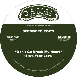 "Seegweed Edits/DON'T GO BREAKING... 12"""