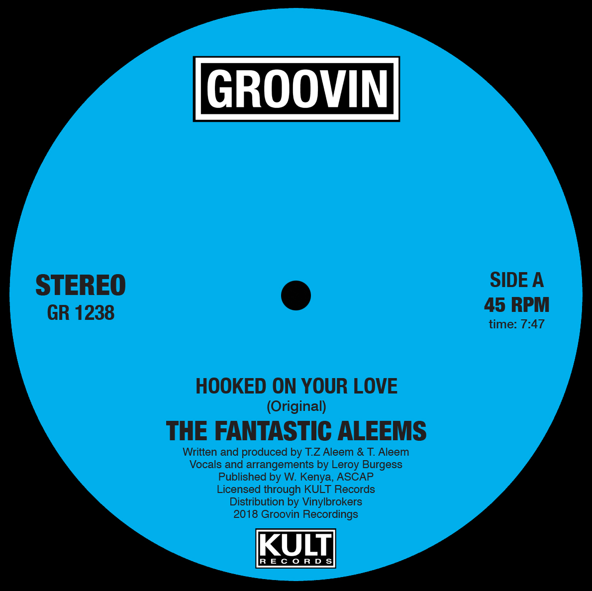 Fantastic Aleems/HOOKED ON YOUR LOVE 12""
