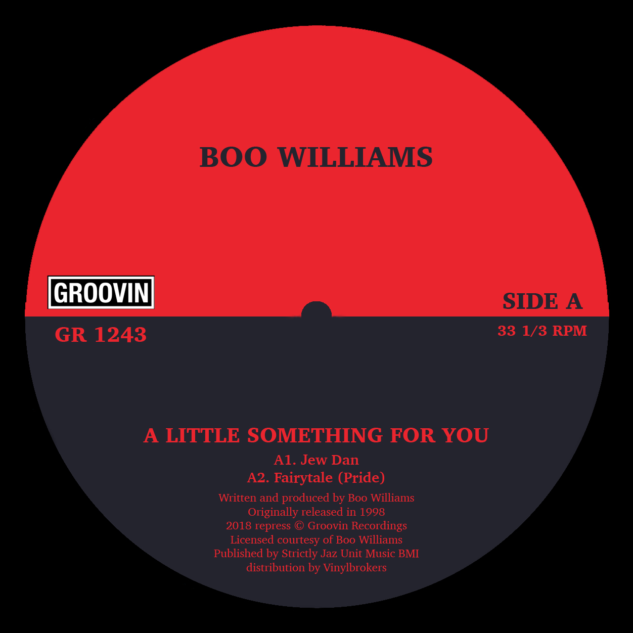 Boo Williams/A LITTLE SOMETHING EP 12""
