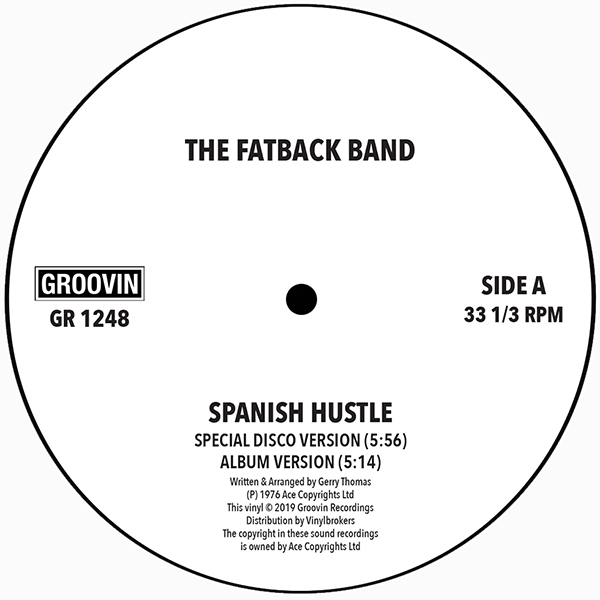 "Fatback Band/SPANISH HUSTLE 12"""