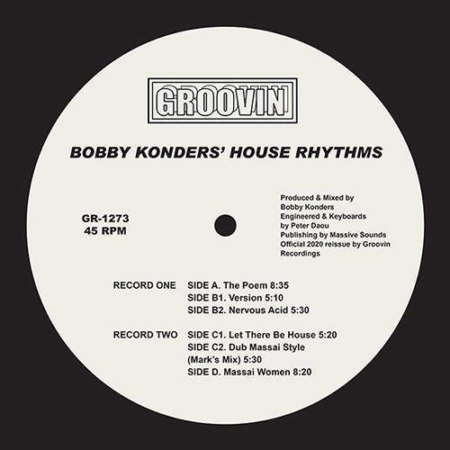 """Bobby Konders/HOUSE RHYTHMS EP D12"""""""