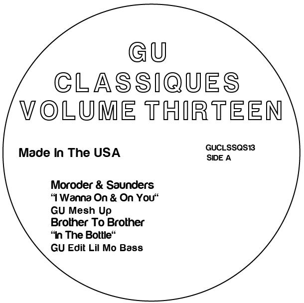 "Glenn Underground/CLASSIQUES VOL. 13 12"""