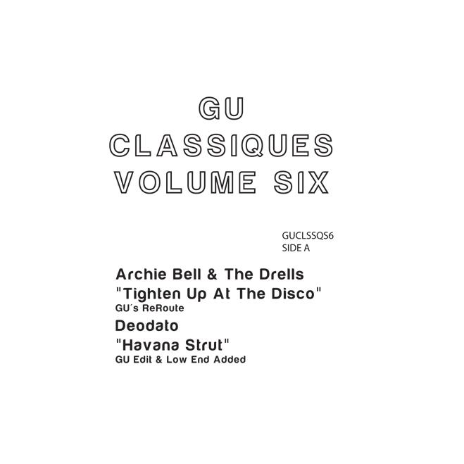 "Glenn Underground/CLASSIQUES VOL. 6 12"""