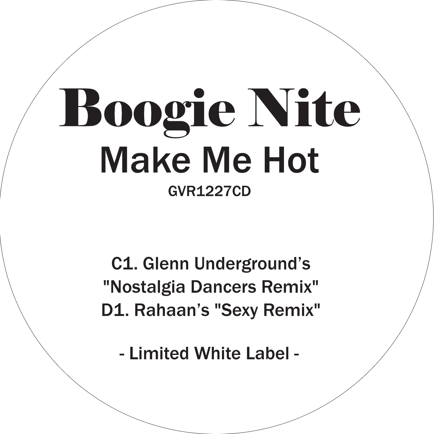 """Boogie Nite/GLENN UNDERGROUND+RAHAAN 12"""""""