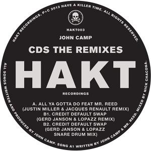 """John Camp/CDS THE REMIXES 12"""""""