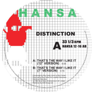 Distinction/THAT'S THE WAY I LIKE IT 12""