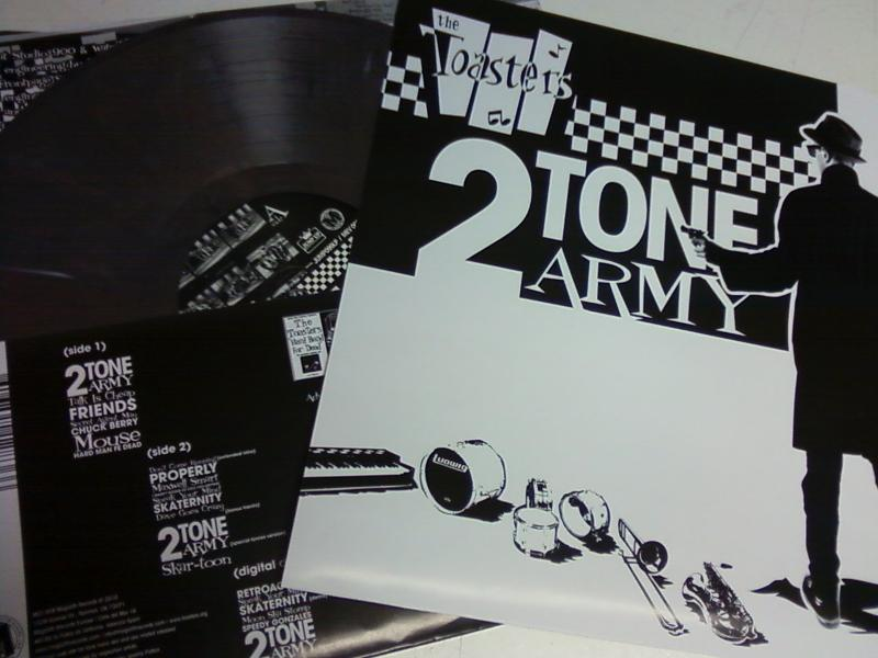 Toasters/2 TONE ARMY (HAND SCREENED) LP