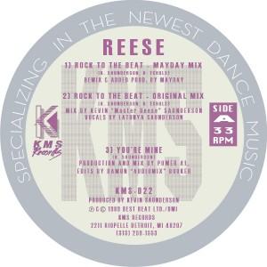 "Reese/ROCK TO THE BEAT & REMIXES 12"""