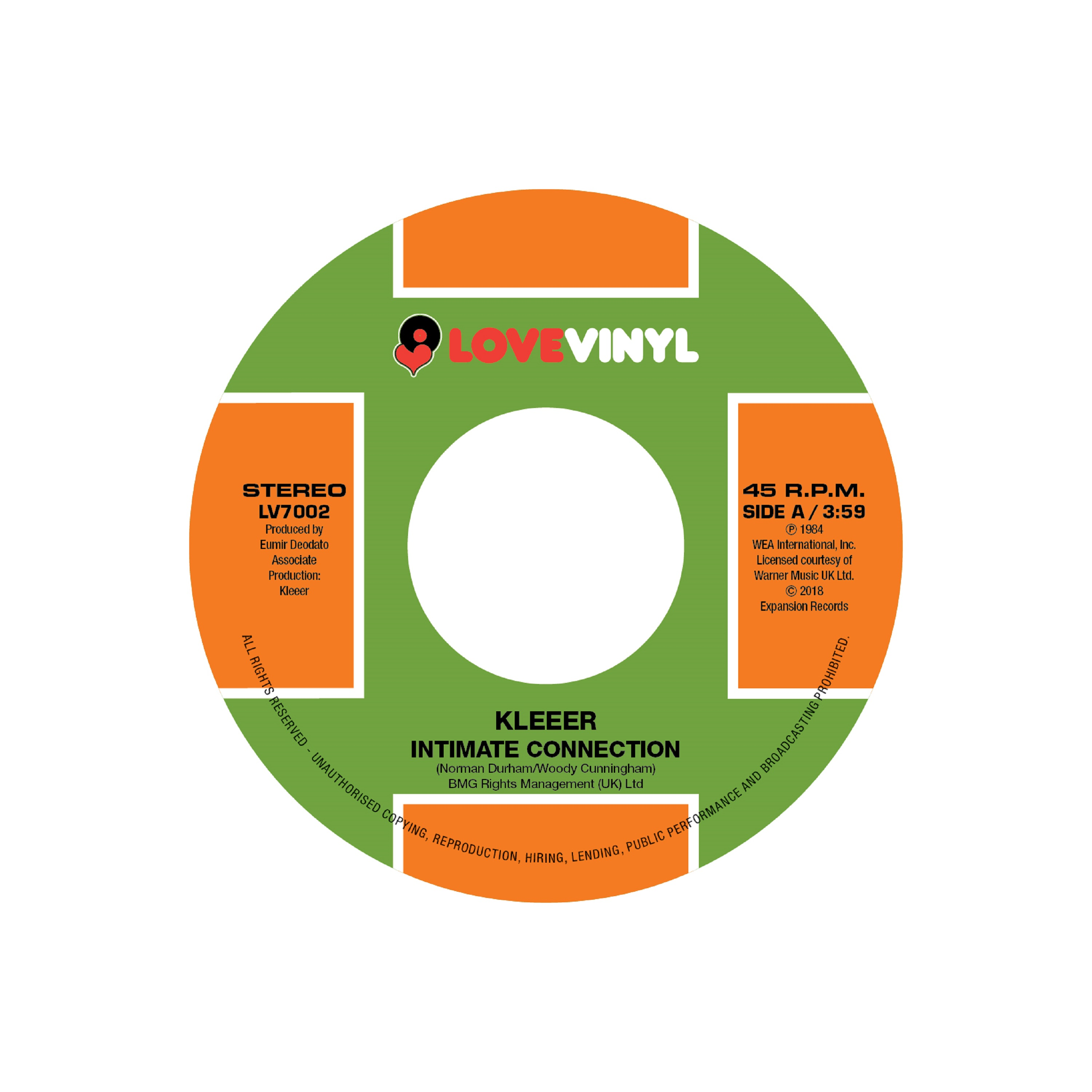 """Kleeer/INTIMATE CONNECTION & TONIGHT 7"""""""