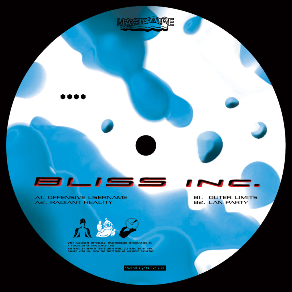 Bliss Inc/RADIANT REALITY EP 12""