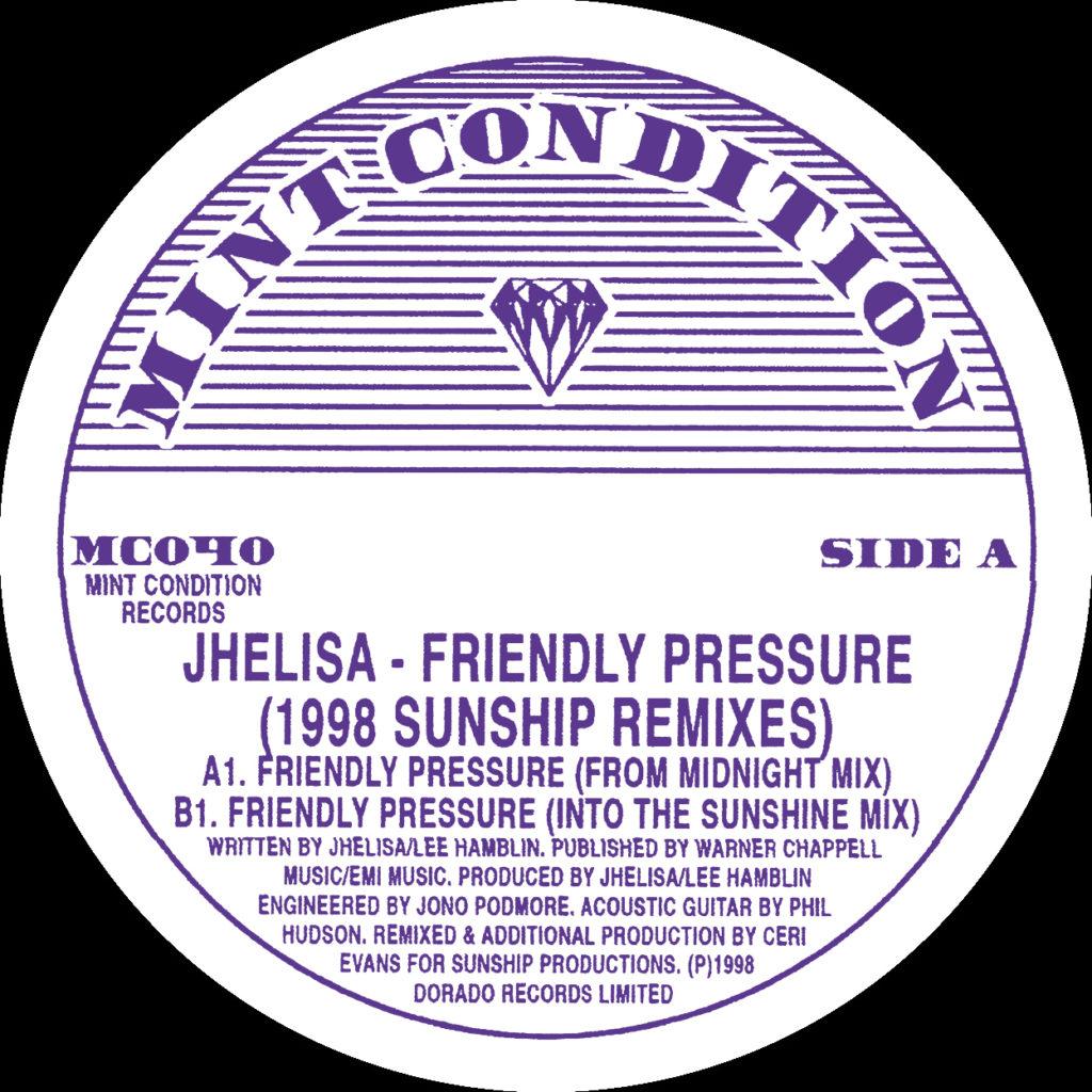 "Jhelisa/FRIENDLY PRESSURE (SUNSHIP) 12"""