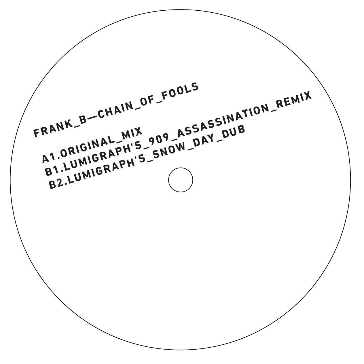 "Frank B/CHAIN OF FOOLS 12"""