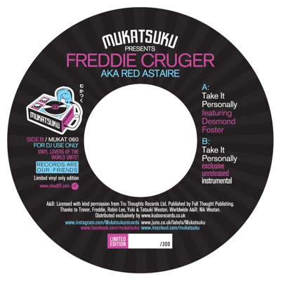 Freddie Cruger/TAKE IT PERSONALLY 7""