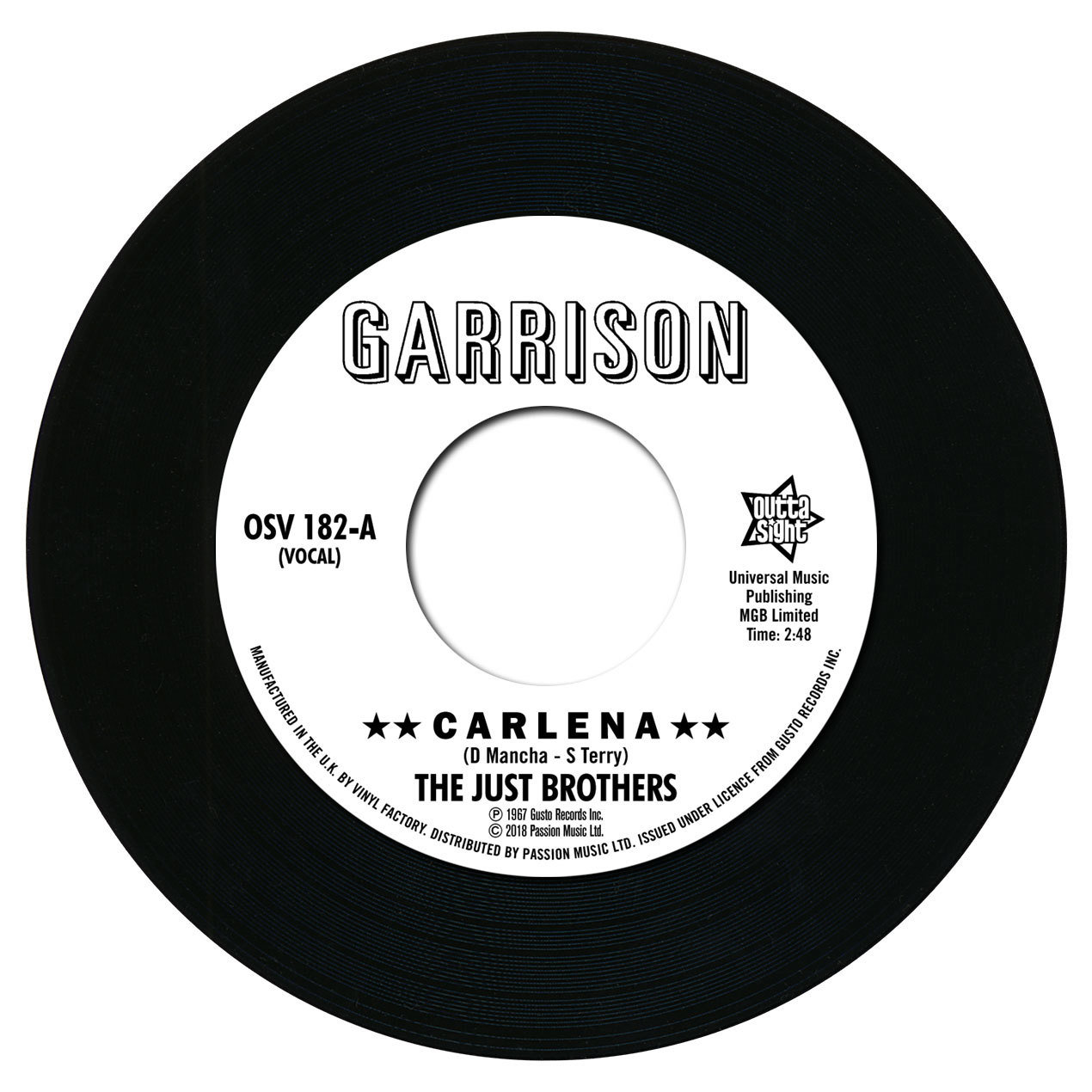 "Just Bros, The/CARLENA 7"""