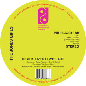 "Jones Girls/NIGHTS OVER EGYPT 12"""