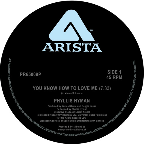 """Phyllis Hyman/YOU KNOW HOW TO LOVE.. 12"""""""