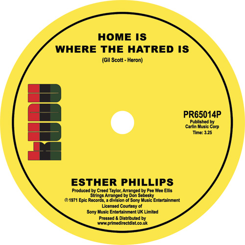 Esther Phillips/HOME IS WHERE... 7""