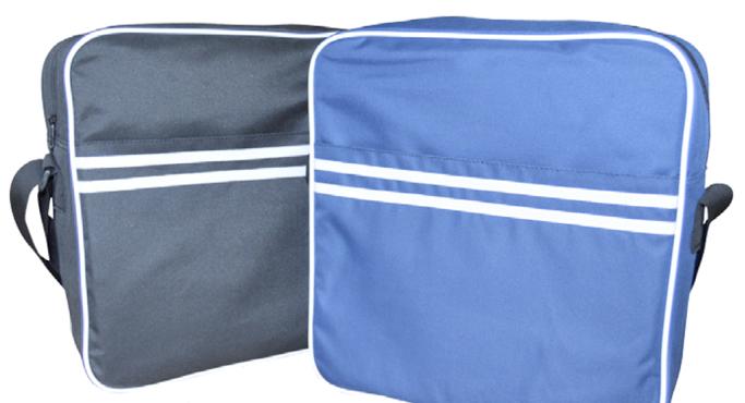 Retro Messenger Bag (Blur or Black)