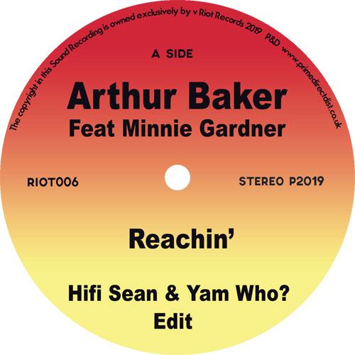 "Arthur Baker/REACHIN' (YAM WHO EDIT) 7"""