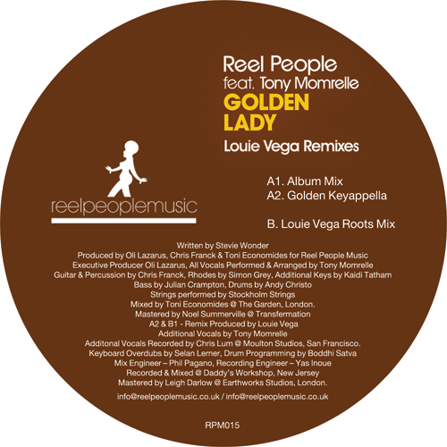 Reel People/GOLDEN LADY - LOUIE VEGA 12""