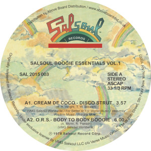 "Various/SALSOUL BOOGIE ESSENTIALS #1 12"""