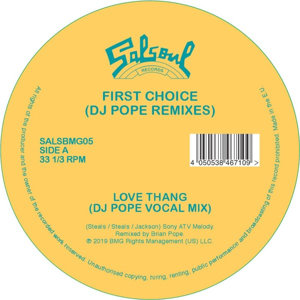 """First Choice/LOVE THANG (DJ POPE RX) 12"""""""