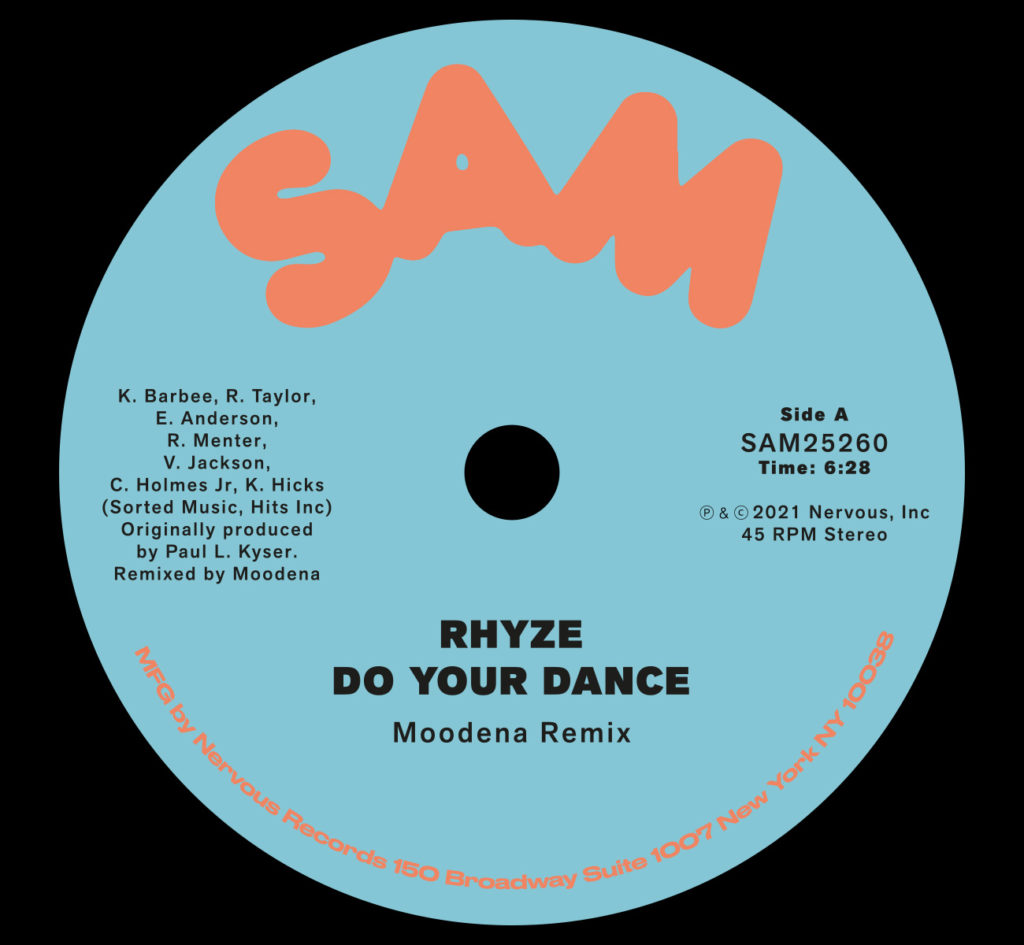 Rhyze/DO YOUR DANCE (MOODENA REMIX) 12""